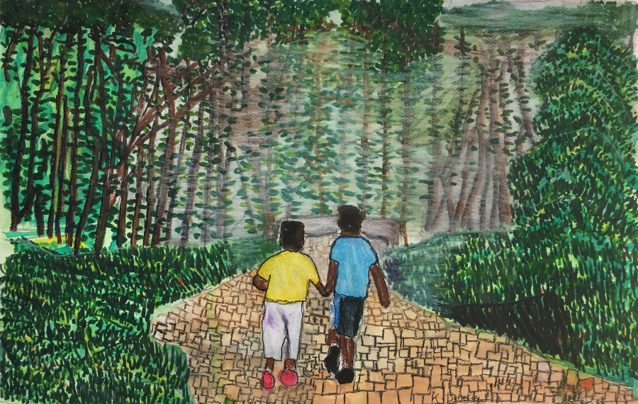 Two Children in an Indian Rainforest